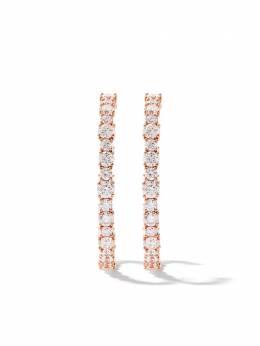 As29 золотые серьги-кольца с бриллиантами D92E