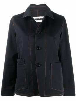 Jil Sander однобортная джинсовая куртка JPPR661530WR241500