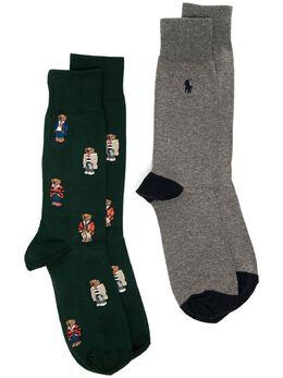 Polo Ralph Lauren комплект из двух пар носков с узором 449767219003