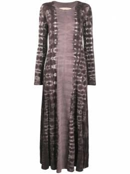 Raquel Allegra платье макси с длинными рукавами и принтом Z051800TD