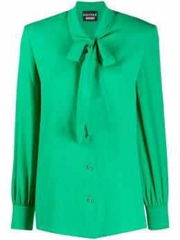 Boutique Moschino рубашка с длинными рукавами и завязками A02075837