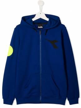 Diadora Junior TEEN PVC logo zip-up hoodie 025465