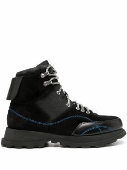 Jil Sander трекинговые ботинки с контрастной строчкой JI35556A12351