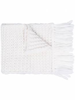 Fendi объемный шарф с вышитым логотипом FXS124ADS9