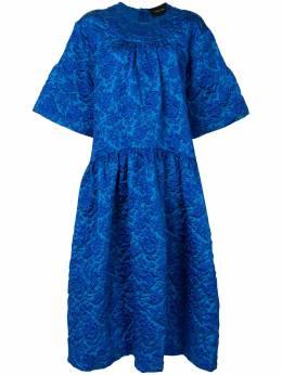 Simone Rocha присборенное платье миди 7007