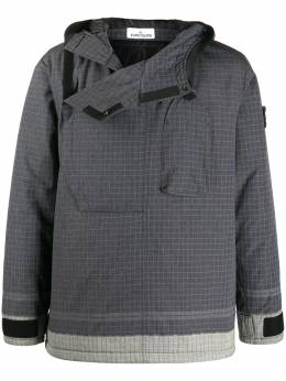 Stone Island клетчатая куртка с капюшоном 731543399