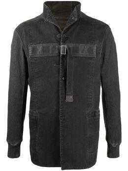 Boris Bidjan Saberi джинсовая куртка с контрастной вставкой WORKJACKETFKU10001