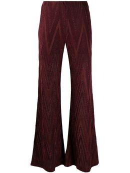 M Missoni раскрашенные брюки с узором зигзаг 2DI002302J0049