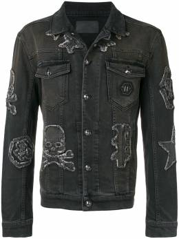 Philipp Plein джинсовая куртка с логотипом MDB0106PDE001N