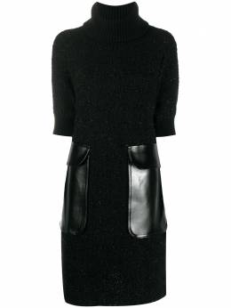 Junya Watanabe трикотажное платье с карманами JFN005