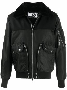 Diesel куртка на молнии с искусственным мехом A005630HAZE