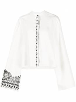 Jil Sander рубашка свободного кроя с принтом JSWR606280WR320700