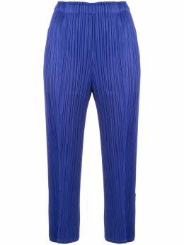 Pleats Please Issey Miyake укороченные брюки со складками PP08JF204
