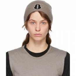 Rick Owens Taupe Moncler Edition Cashmere Beanie MU20F0027 A9453