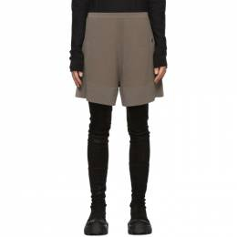 Rick Owens Taupe Moncler Edition Cashmere Sisy Shorts MU20F0019 A9454