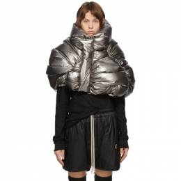 Rick Owens Silver Moncler Edition Down UFO Cropped Jacket MW20F0001 C0634