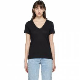 Rag&Bone Black The Slub V-Neck T-Shirt W272C34CH
