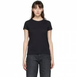 Rag&Bone Black The Slub T-Shirt W272C32CH