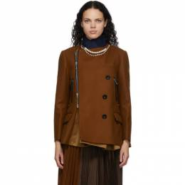 Sacai Brown Necklace Jacket 20-05265