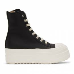 Rick Owens DRKSHDW Black Double Bumper Sneakers DS20F1820 RUHP