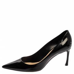 Dior Black Patent Leather Pointed Toe Pumps Size 38.5 350332