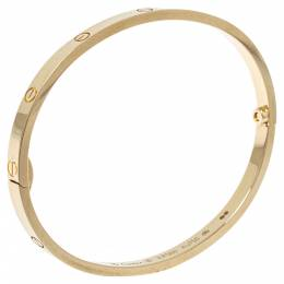 Cartier Love 18K Yellow Gold Narrow Bracelet SM 16 349752