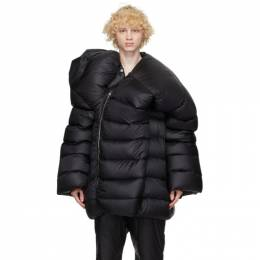 Rick Owens Black Moncler Edition Down Hikoville Coat MU20F0002