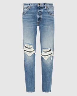 Голубые джинсы Khaite 2300006338052