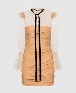 Бежевое платье Khaite 2300006338007