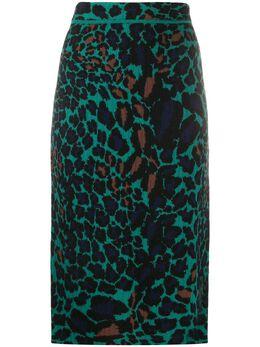 Dvf Diane Von Furstenberg юбка-карандаш с леопардовым принтом 1509DVF