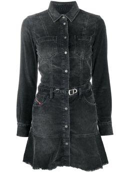 Diesel джинсовое платье мини на пуговицах A011610KAZI