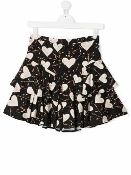 Elisabetta Franchi La Mia Bambina юбка с оборками и принтом EFGO78GA2E08