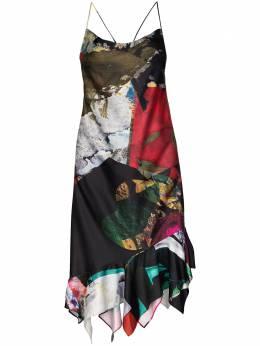Marques'Almeida платье миди без рукавов в технике пэчворк RM01DR0144LWPMIXLWPRINT