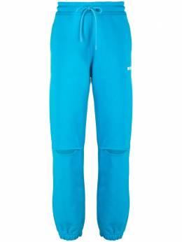 MSGM спортивные брюки с логотипом и разрезами 2942MDP162207999