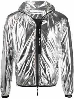 Paco Rabanne куртка с капюшоном и эффектом металлик 19ACVE003PA0132