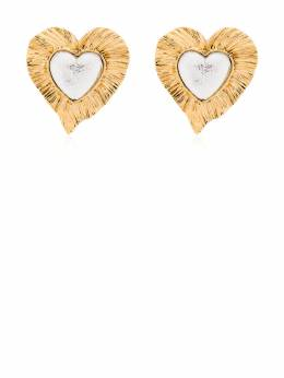 Saint Laurent серьги Héritage Radiating Heart 638843Y1591