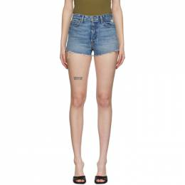 Grlfrnd Blue Denim Cindy Shorts GFDN4011RV-01