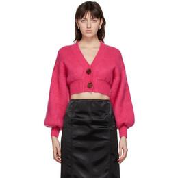 The Attico Pink Mohair Cardigan 202WCK01 - W020 - 008