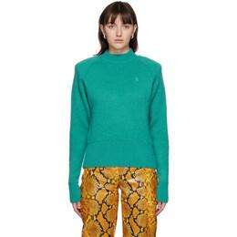 The Attico Green Mohair Sweater 202WCK02 - W020 - 036