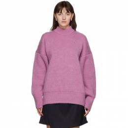 The Attico Pink Mohair Oversized Sweater 202WCK04 - W020 - 119