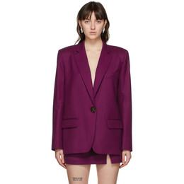 The Attico Purple Wool Bianca Blazer 202WCG03 - W009 - 035