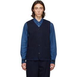 Blue Blue Japan Indigo Hand-Dyed Sashiko Vest 700083235