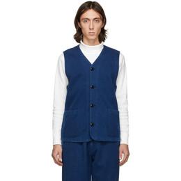 Blue Blue Japan Blue Hand-Dyed Sashiko Vest 700083235