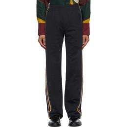Wales Bonner Black Crochet Palms Track Pants MA20JE01-JER700EC-999