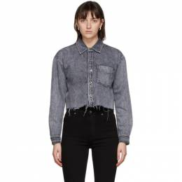 Grlfrnd Grey Denim Christy Shirt GF40709741562