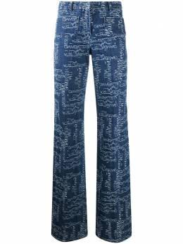 Giambattista Valli расклешенные джинсы с завышенной талией и логотипом 20FWSVCA301770JJL