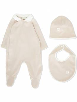 "Fendi Kids ""комплект из пижамы, шапки и нагрудника"" BUK062A8LK"