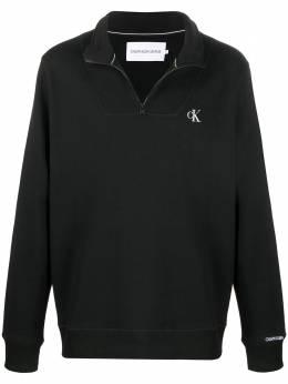 Calvin Klein Jeans толстовка с воротником на молнии и вышитым логотипом J30J316548BEH