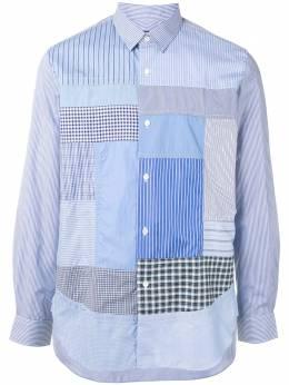 Junya Watanabe Man рубашка с контрастной вставкой WFB022051