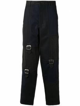 Comme Des Garcons Shirt прямые брюки с пряжками W28136